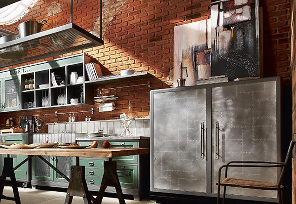 Mobili per cucina stile industriale design casa creativa for Arredamento industriale