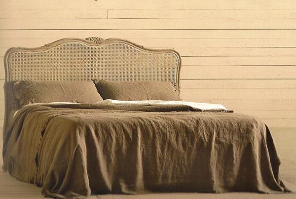 Testiera letto in legno paglia di Vienna