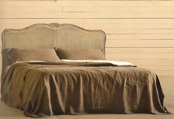 Testiera letto in legno paglia di vienna mobili toson - Testiera letto legno ...