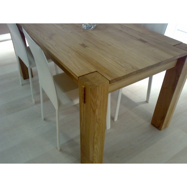 Tavolo in legno allungabile mobili toson arredamenti su for Tavolo di legno allungabile
