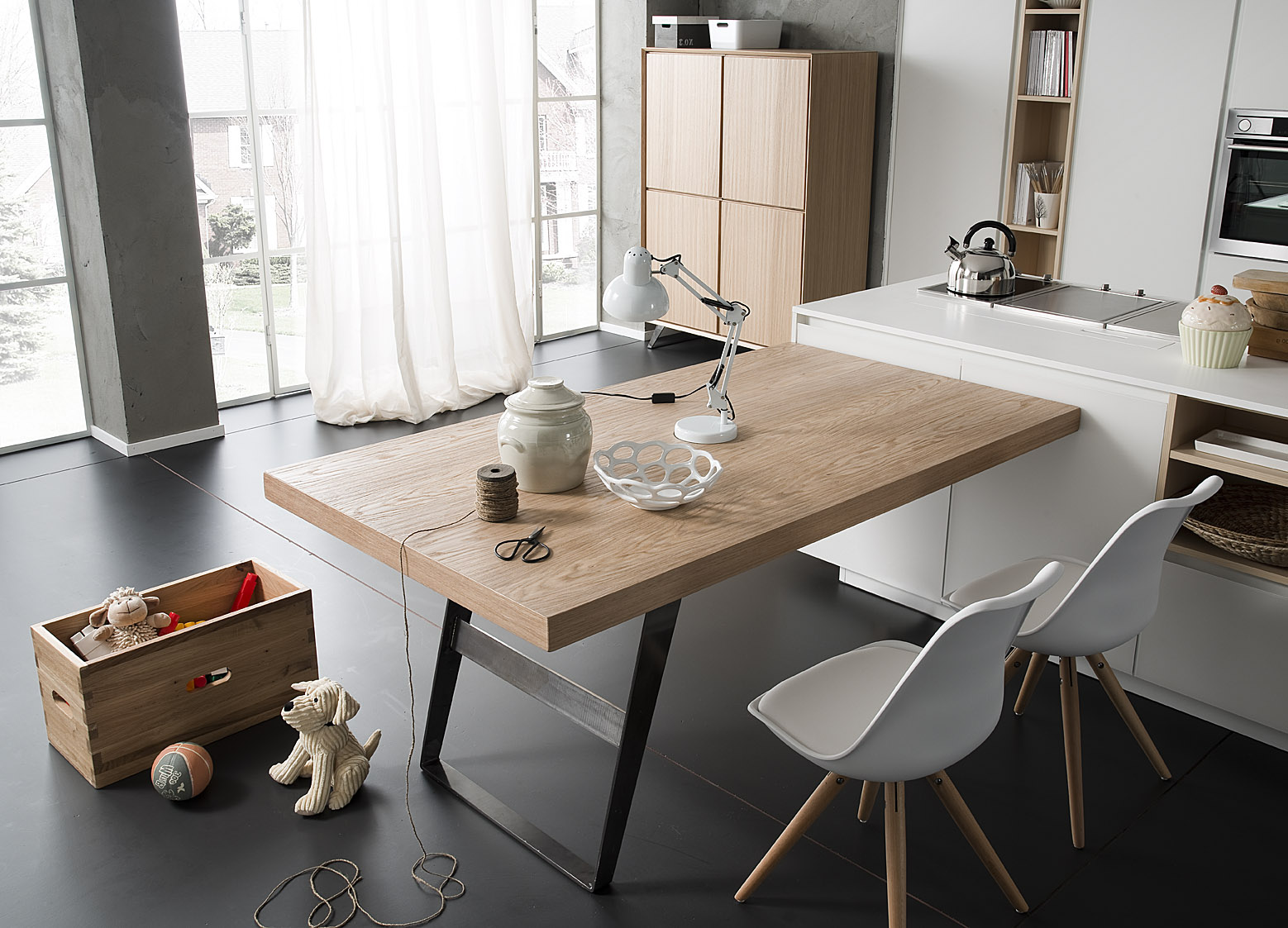 Tavolo legno e ferro mobili toson arredamenti su misura - Mobili in ferro ...