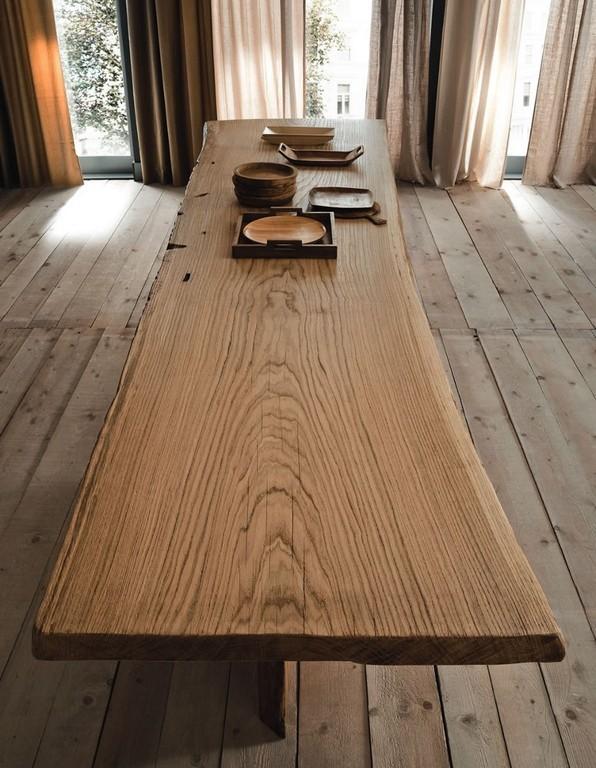 Tavolo legno naturale mobili toson arredamenti su misura vintage country e contemporanei - Tavolo legno naturale ...