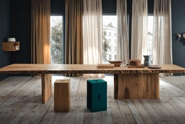 Tavolo Design Legno Naturale.Speciale Tavoli Mobili Toson Arredamenti Su Misura Vintage