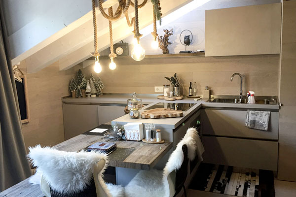 Coccole ad alta quota   arredamento su misura appartamento in Montagna