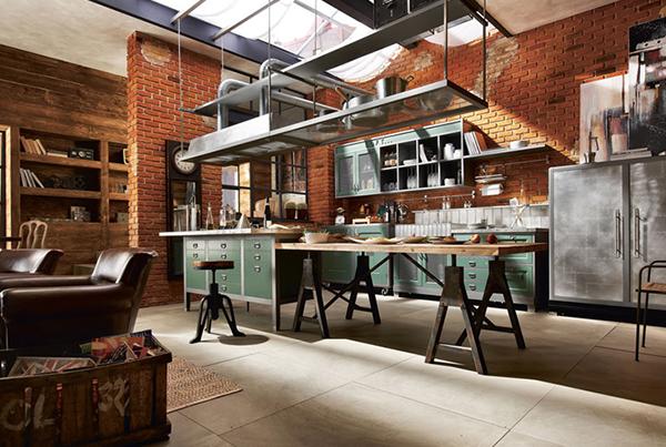 Cucina in stile industriale vintage mobili toson arredamenti su misura vintage country e - Mobili stile industriale usati ...