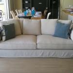 Mobili Toson divano in lino effetto stropicciato