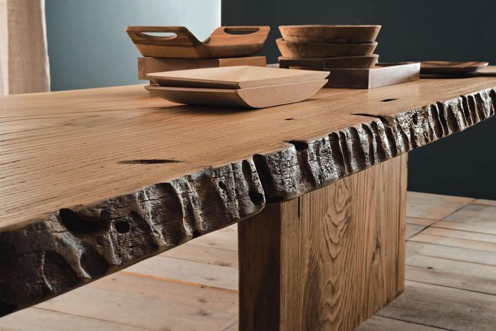 Tavolo legno naturale mobili toson arredamenti su misura for Vendita on line arredamento design