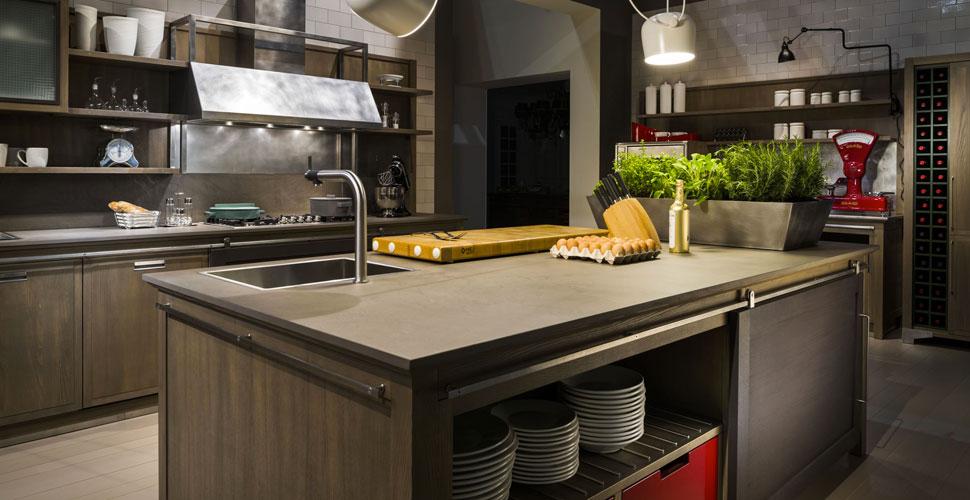 Cucina stile industriale mobili toson for Arredamento industriale ikea