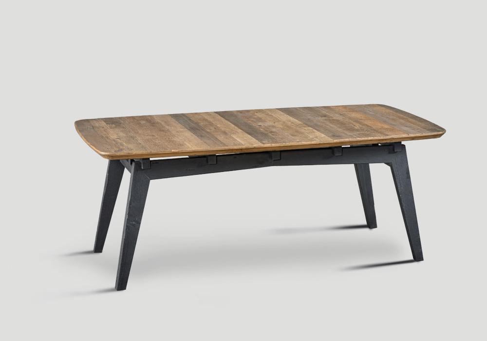 Tavolo legno massello naturale 2 mobili toson for Tavolo legno naturale