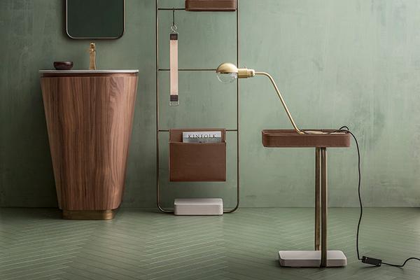 Bagno Art Decò in legno e bronzo